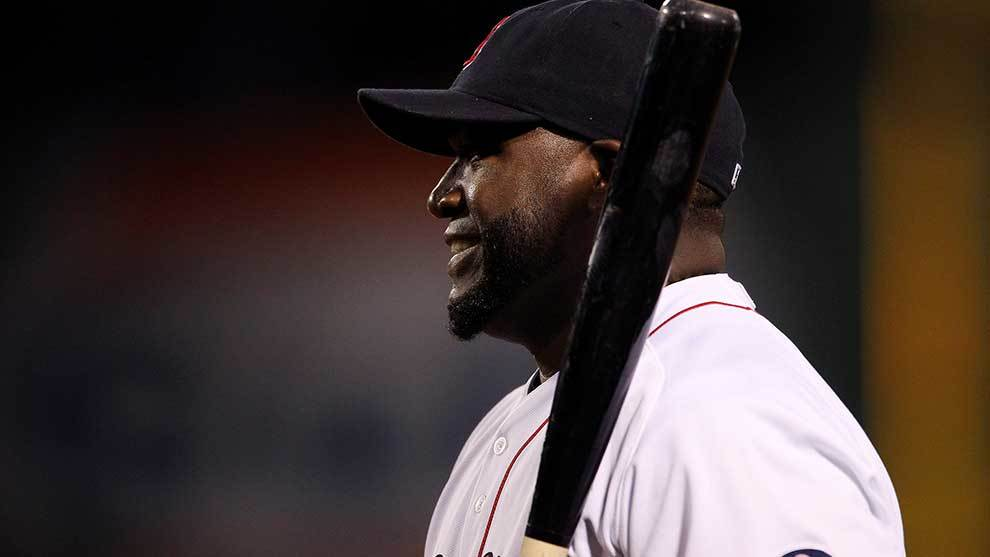 David Ortiz durante un partido con Boston.