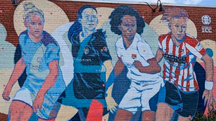 Mural de la Women's International Champions Cup en North...