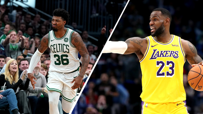 Lakers y Celtics están la cima de la NBA.