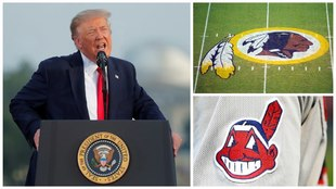 Donald Trump ataca a Redskins e Indians.