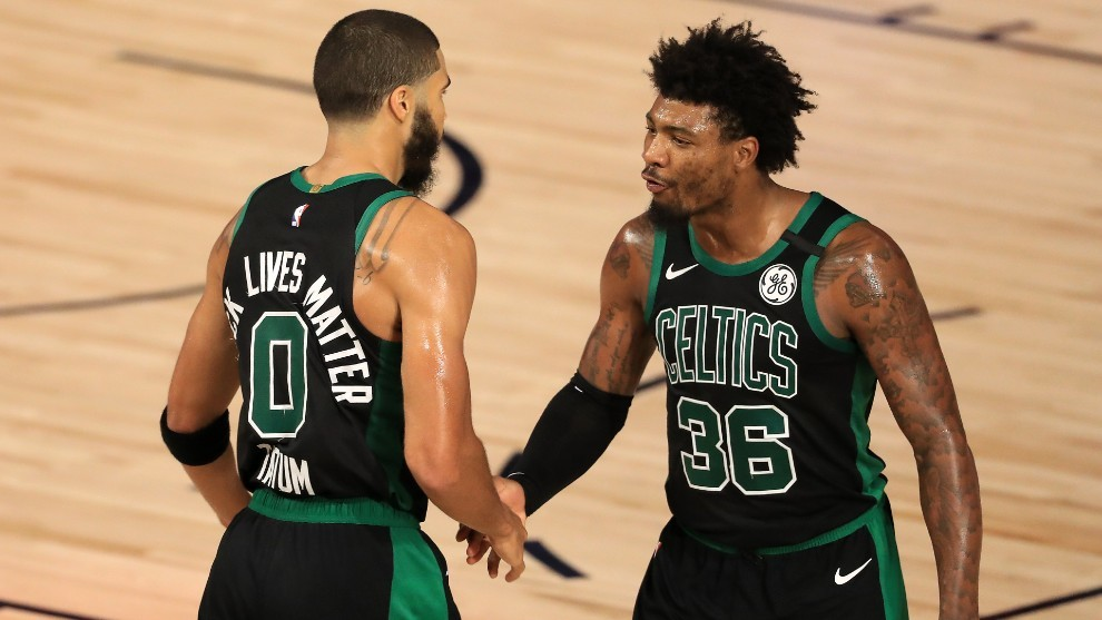 Los cinco triples de Marcus Smart en el cuarto periodo dejan a Boston...