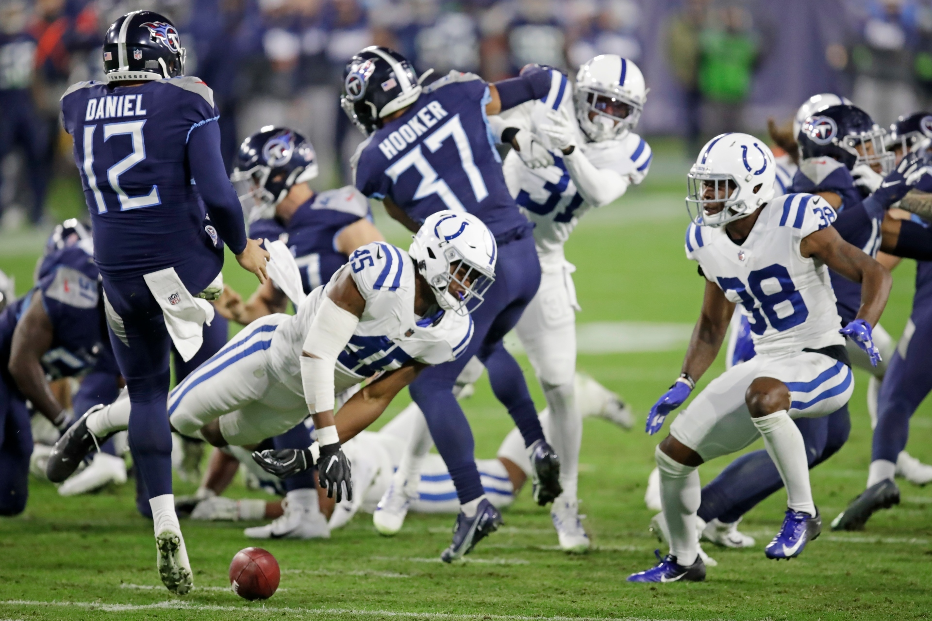 The Colts come back to beat Tennessee 34-17.