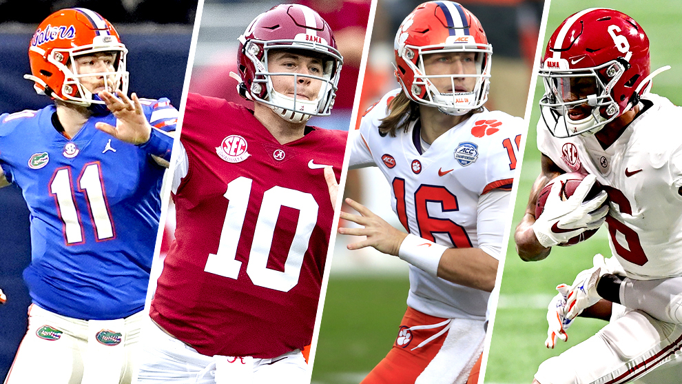 Heisman Trophy 2020: Kyle Trask, Mac Jones, Trevor Lawrence and DeVonta Smith are named the finalists.