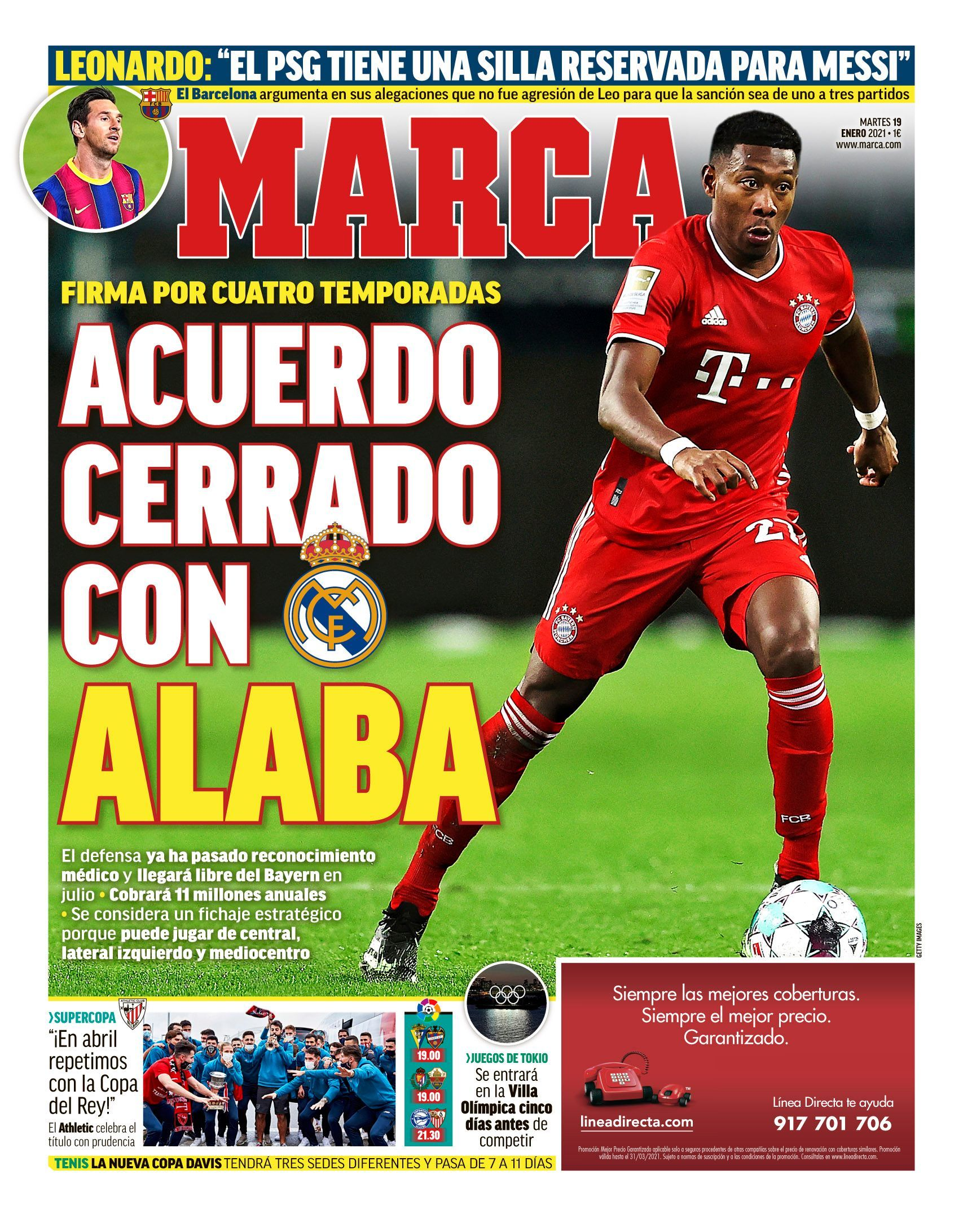 Real Madrid amarró a David Alaba para la próxima temporada