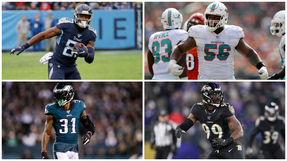 Jonnu Smith, Matt Judon, Jalen Mills and Davon Godchaux sign with the Patriots at the D