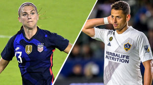 Alex Morgan alaba la llegada de Chicharito a la MLS.