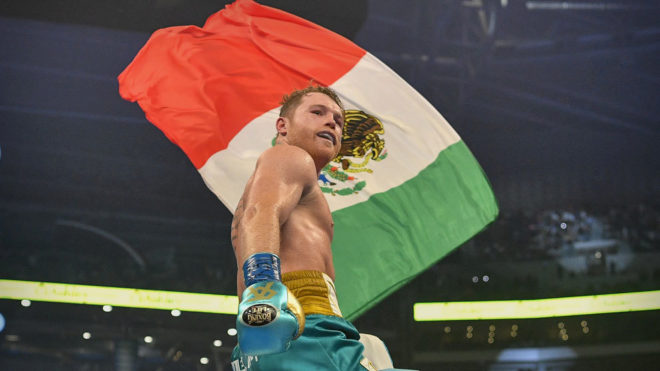 Canelo asks to fight Caleb Plant.