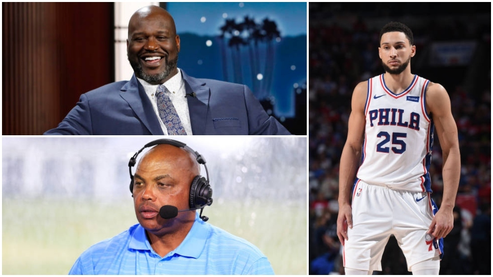 Shaquille O?Neal y Charles Barkley contra Ben Simmons